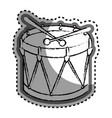 drum instrument isolated icon vector image vector image