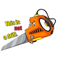 Electronic saw vector image vector image