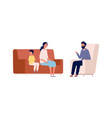 family therapy mother son and counselor vector image vector image