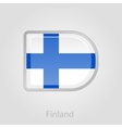 Finland flag button vector image vector image