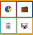 flat icon incoming set of chart calculate vector image vector image
