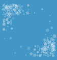 frame or border of random scatter snowflakes vector image