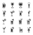 Glasses and cups icons set vector image vector image