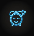 good sleep concept neon icon in line style vector image