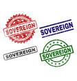 grunge textured sovereign stamp seals vector image vector image