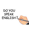 hand writing speak english vector image
