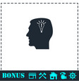 head idea icon flat vector image vector image