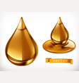 honey drop 3d icon set vector image
