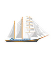 huge sailboat with shiny fairy canvas and spacious vector image vector image