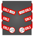 left and right side signs - sale vector image