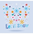Let it snow design vector image vector image