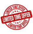 limited time offer stamp vector image