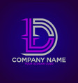 logo letter d and t 2 vector image vector image