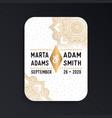 luxury wedding card invitation vector image vector image