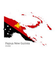 map papua new guinea with national flag vector image vector image