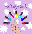 nails vector image vector image
