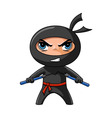 ninja cartoon vector image vector image