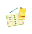 Notebook Block Note And Pen vector image vector image