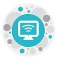 of motel symbol on wifi icon vector image