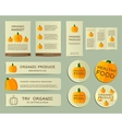 organic business corporate identity design vector image vector image