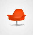 plastic chair vector image vector image