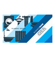 plumbing businesscard concept vector image vector image