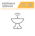 radar dish editable stroke line icon vector image
