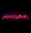 red neon skyline barcelona city bright vector image vector image