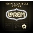 Retro lightbulb styles vector image