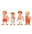 roman greek old young strong fat toga loincloth vector image