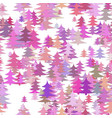 Seamless abstract chaotic pine tree background vector image