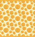 seamless texture with golden coins flat style vector image