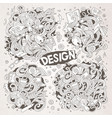 set doodle design theme items vector image