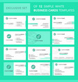 set of 12 internet search creative busienss card vector image vector image