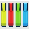 set of colored markers on a white vector image