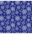 Snowflakes on blue background seamless texture vector image
