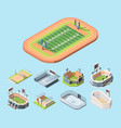 sports fields and stadiums isometric vector image