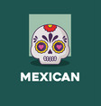 sugar skull icon vector image