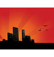 Sunset City Background vector image vector image