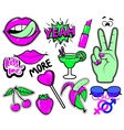 sweet girl patches vector image vector image