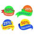 symbol discount vector image vector image