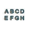 Technology font set