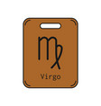 virgo sign of the zodiac flat symbol horoscope vector image