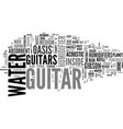 what to look for in a guitar humidifier text word vector image vector image