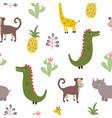 wildlife print vector image