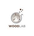 wood laboratory symbol logo design template vector image vector image