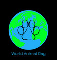world animal day 4 october concept of an vector image vector image