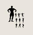 Bodybuilding Silhouette vector image