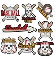 set of colorful baseball club labels Sport vector image