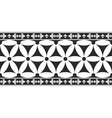 Black-and-white gothic geometrical floral border vector image